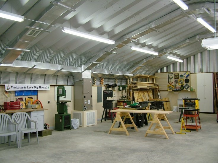 5 ways to use a quonset hut building for Metal building interior ideas